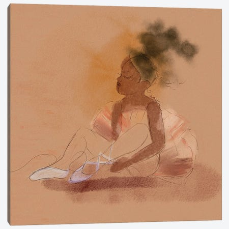 Ballerina Dreams Canvas Print #DLH49} by DeeLashee Artistry Canvas Art Print