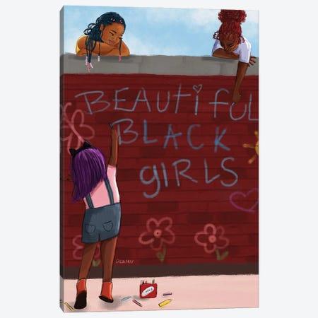 Beautiful Black Girls Canvas Print #DLH61} by DeeLashee Artistry Art Print