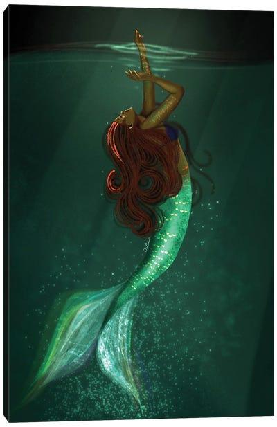 Black Girls Can Be Mermaids Too Canvas Art Print