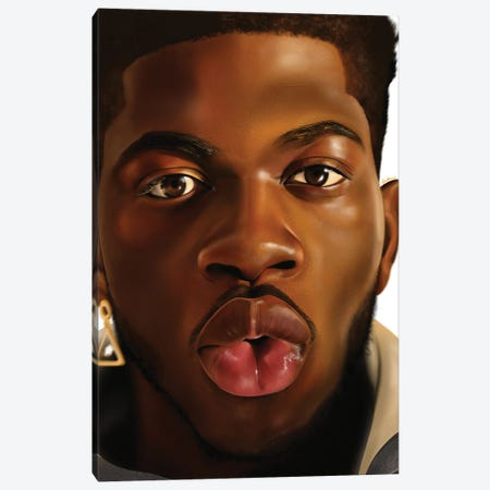 Lil Nas X Canvas Print #DLH70} by DeeLashee Artistry Canvas Art