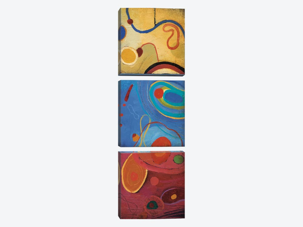 String Theory III by Don Li-Leger 3-piece Canvas Print