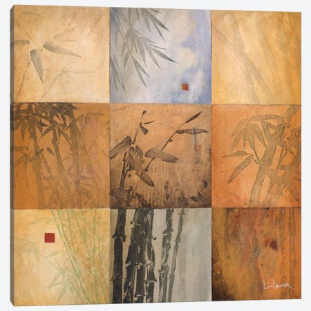 Bamboo Nine Patch Canvas Print #DLL10} by Don Li-Leger Canvas Art