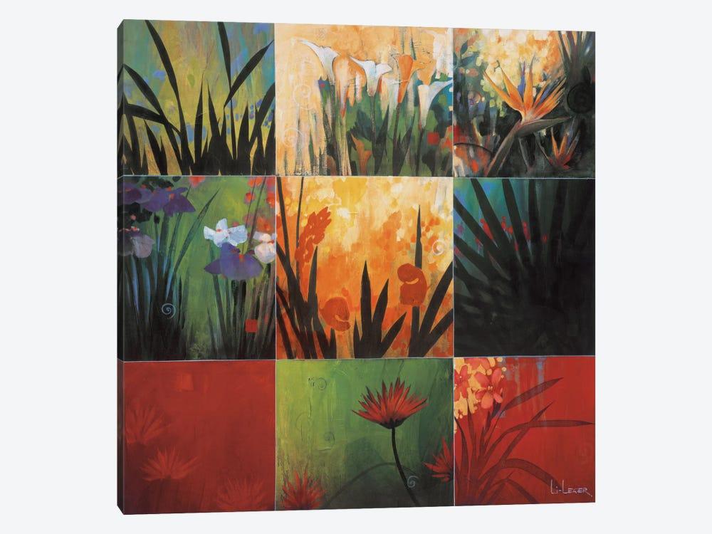 Tropical Nine Patch I by Don Li-Leger 1-piece Canvas Art