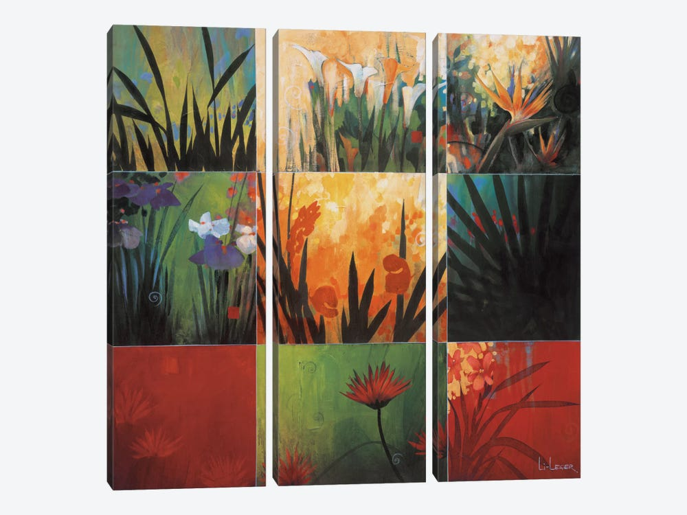 Tropical Nine Patch I by Don Li-Leger 3-piece Canvas Wall Art