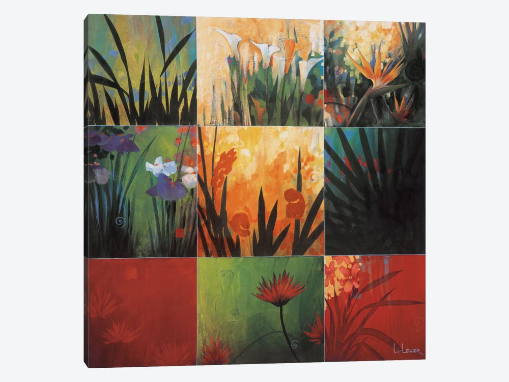 Tropical Nine Patch I by Don Li-Leger 1-piece Canvas Art