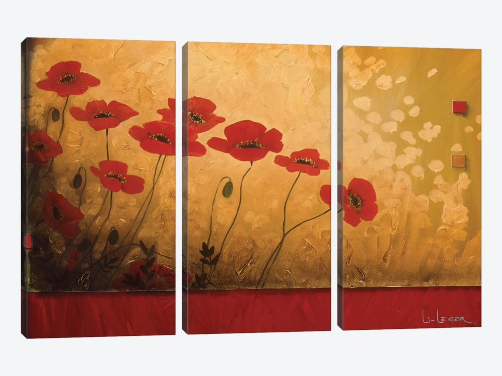 Walking In Eden by Don Li-Leger 3-piece Canvas Wall Art
