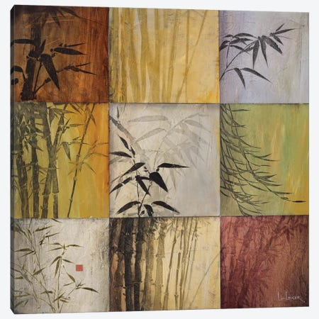 Bamboo Nine Patch II Canvas Print #DLL11} by Don Li-Leger Canvas Art