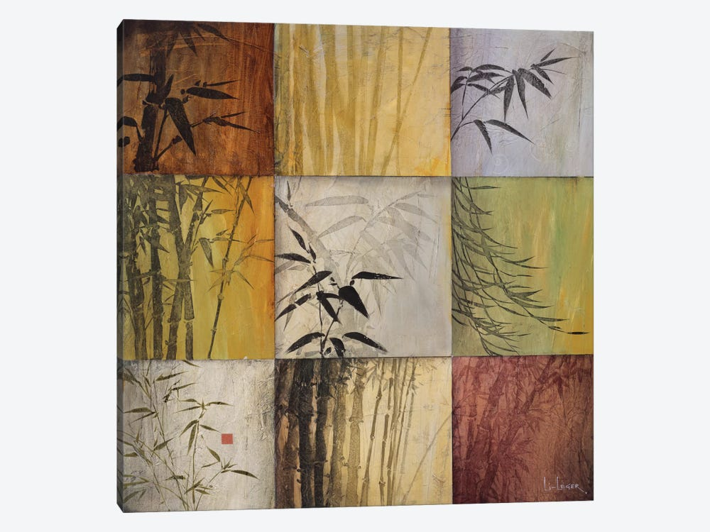 Bamboo Nine Patch II by Don Li-Leger 1-piece Canvas Artwork