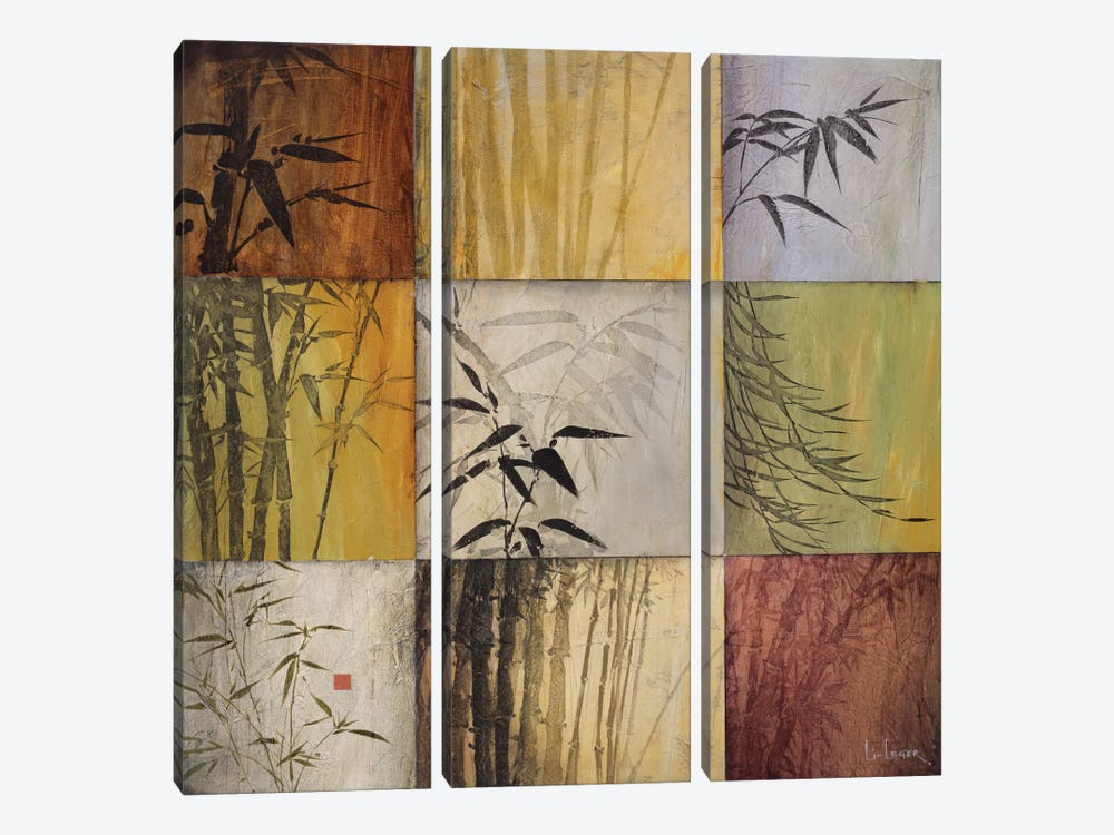 Bamboo Nine Patch II by Don Li-Leger 3-piece Canvas Wall Art