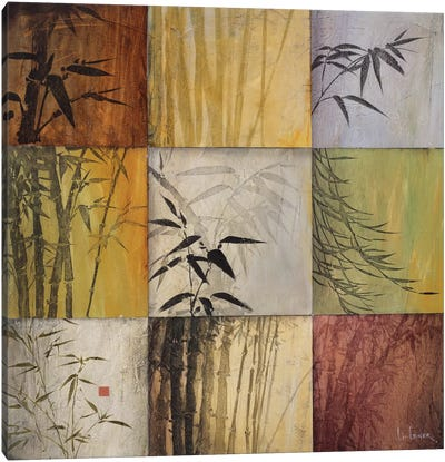 Bamboo Nine Patch II Canvas Art Print