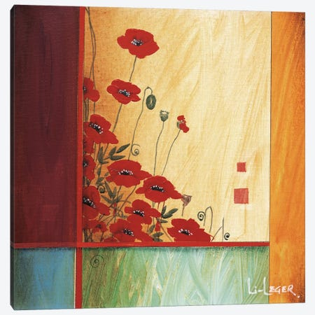Along The Garden Wall Canvas Print #DLL3} by Don Li-Leger Canvas Artwork