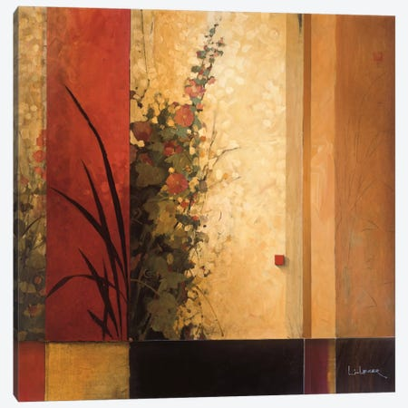 Hollyhock Garden Canvas Print #DLL42} by Don Li-Leger Art Print