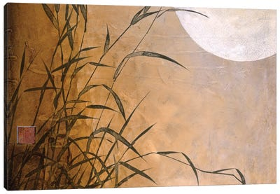 Lakeside Moonrise Canvas Art Print
