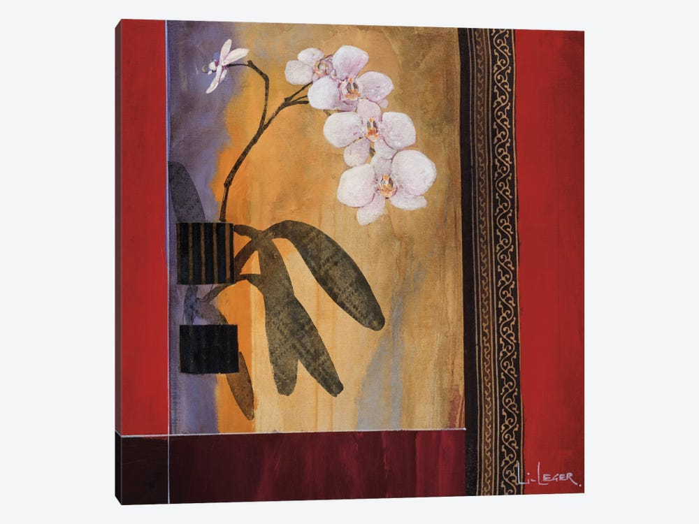 Orchid Lines I by Don Li-Leger 1-piece Canvas Artwork
