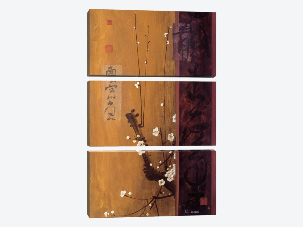 Oriental Blossoms I 3-piece Canvas Art