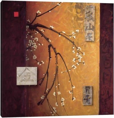 Oriental Blossoms II Canvas Art Print