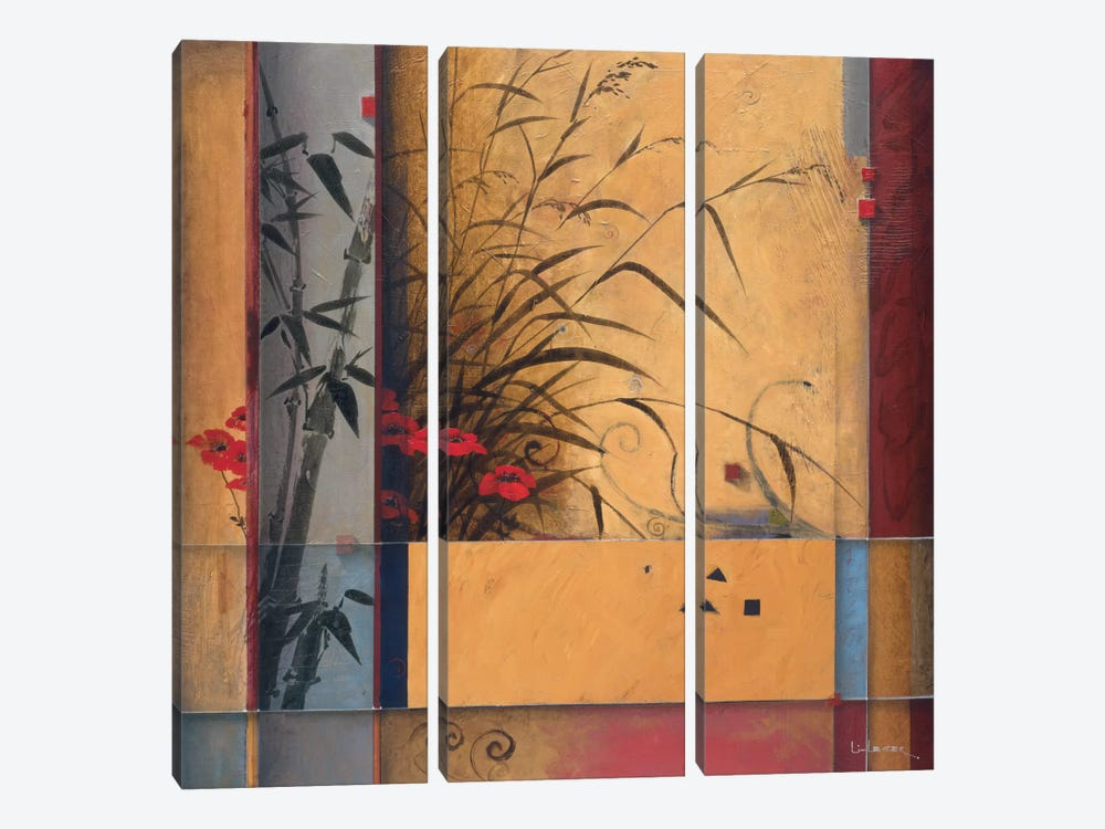 Bamboo Division by Don Li-Leger 3-piece Canvas Art