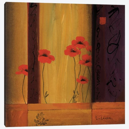 Poppy Tile I Canvas Print #DLL88} by Don Li-Leger Art Print