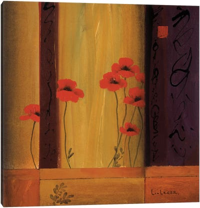 Poppy Tile I Canvas Print #DLL88