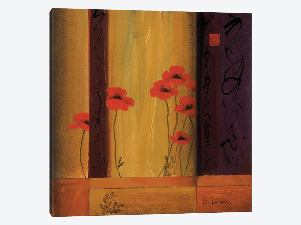 Poppy Tile I by Don Li-Leger 1-piece Canvas Art