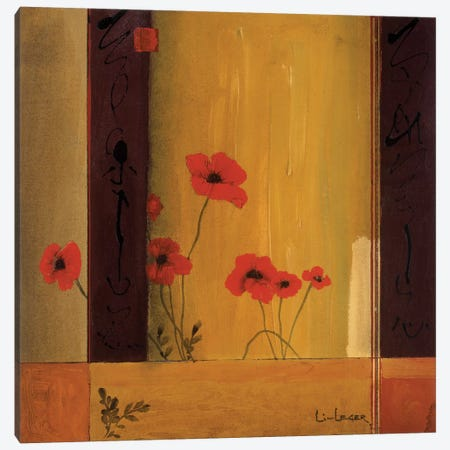 Poppy Tile II Canvas Print #DLL89} by Don Li-Leger Art Print