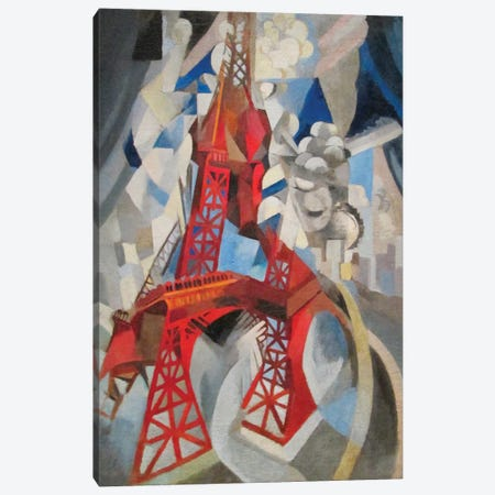 La Tour Rouge (Red Eiffel Tower), 1911-12 Canvas Print #DLN1} by Robert Delaunay Canvas Artwork