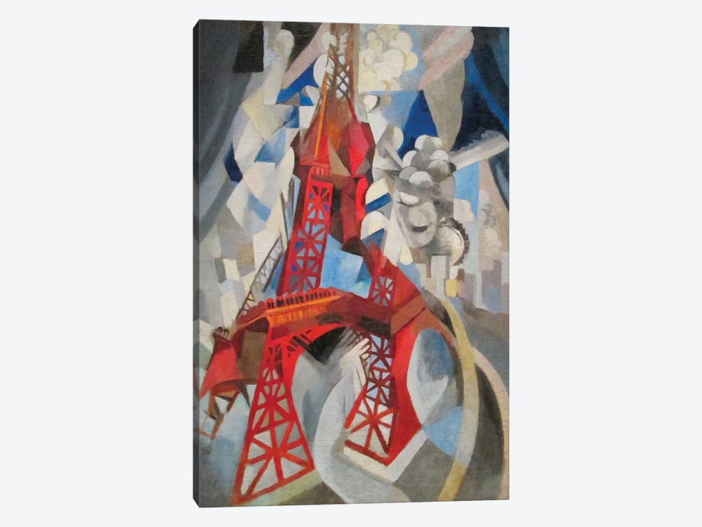 La Tour Rouge (Red Eiffel Tower), 1911-12 by Robert Delaunay 1-piece Canvas Art