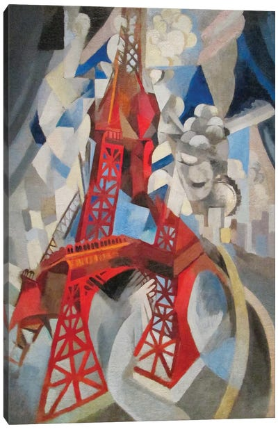 La Tour Rouge (Red Eiffel Tower), 1911-12 Canvas Art Print