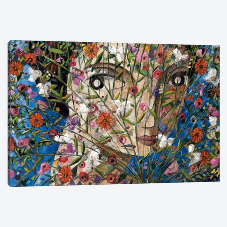Woman And Flowers Canvas Print #DLO10} by Didier Lourenco Canvas Art Print
