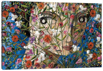 Woman And Flowers Canvas Art Print