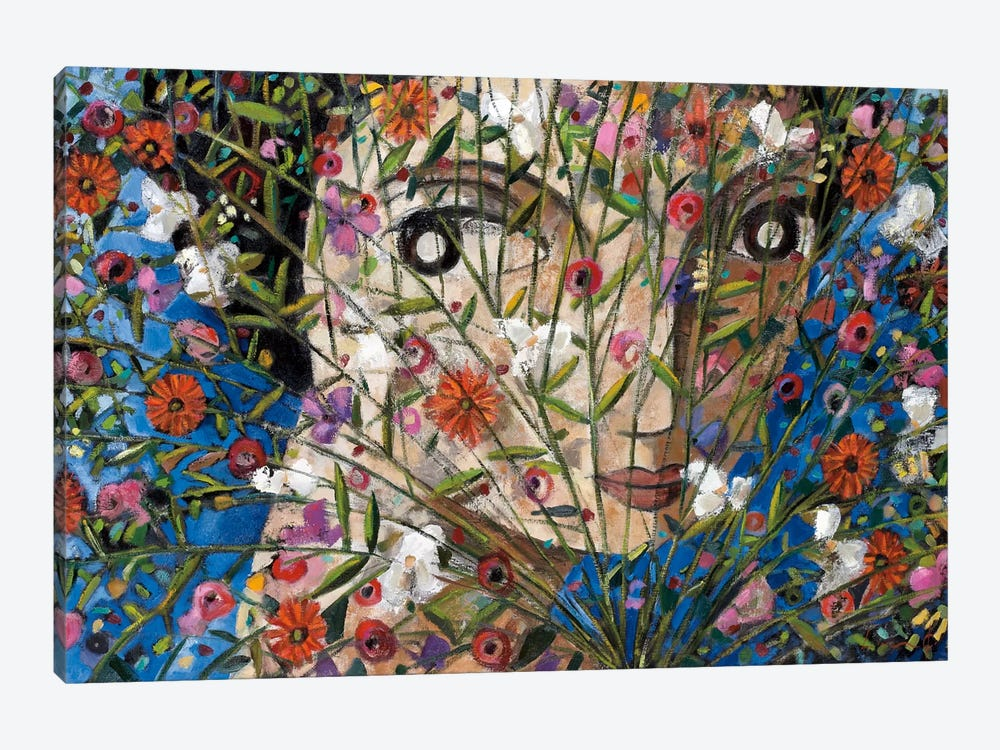 Woman And Flowers by Didier Lourenco 1-piece Art Print