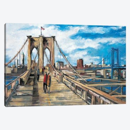 Brooklyn Bridge Canvas Print #DLO11} by Didier Lourenco Canvas Print
