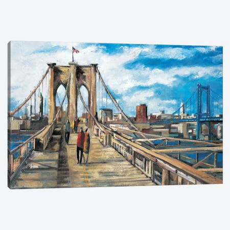 Brooklyn Bridge Canvas Print #DLO11} by Didier Lourenco Canvas Print