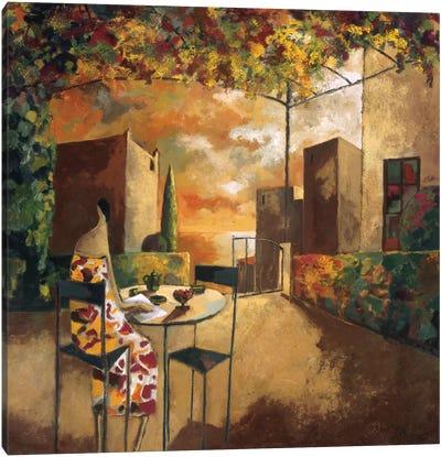 Café Al Jardi Canvas Art Print