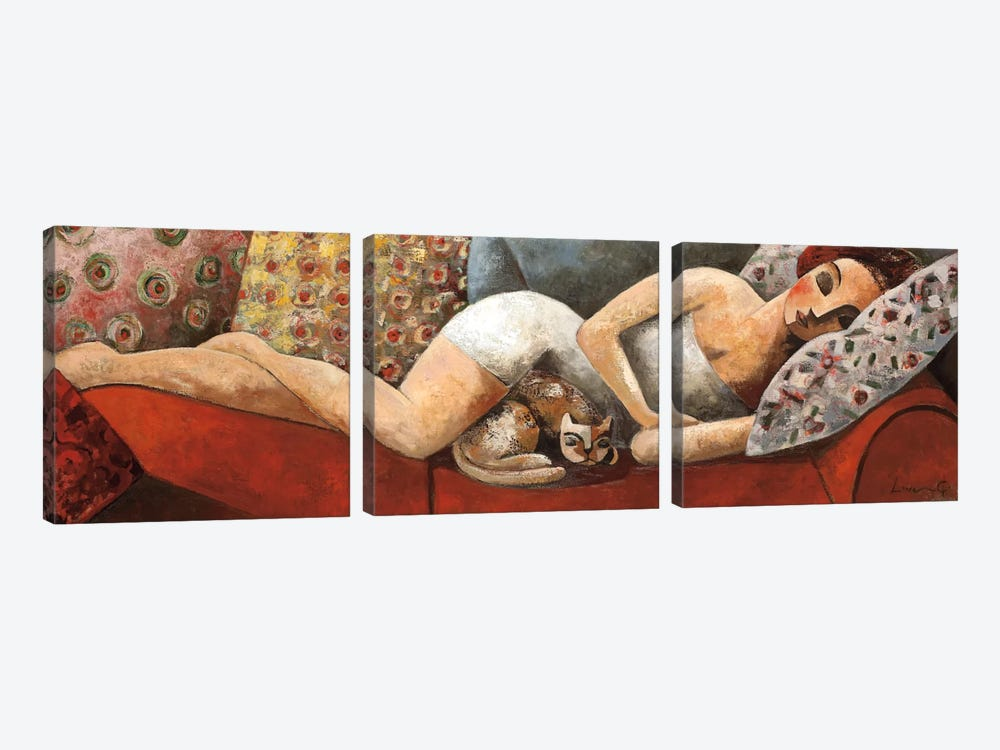 Siesta by Didier Lourenco 3-piece Canvas Art