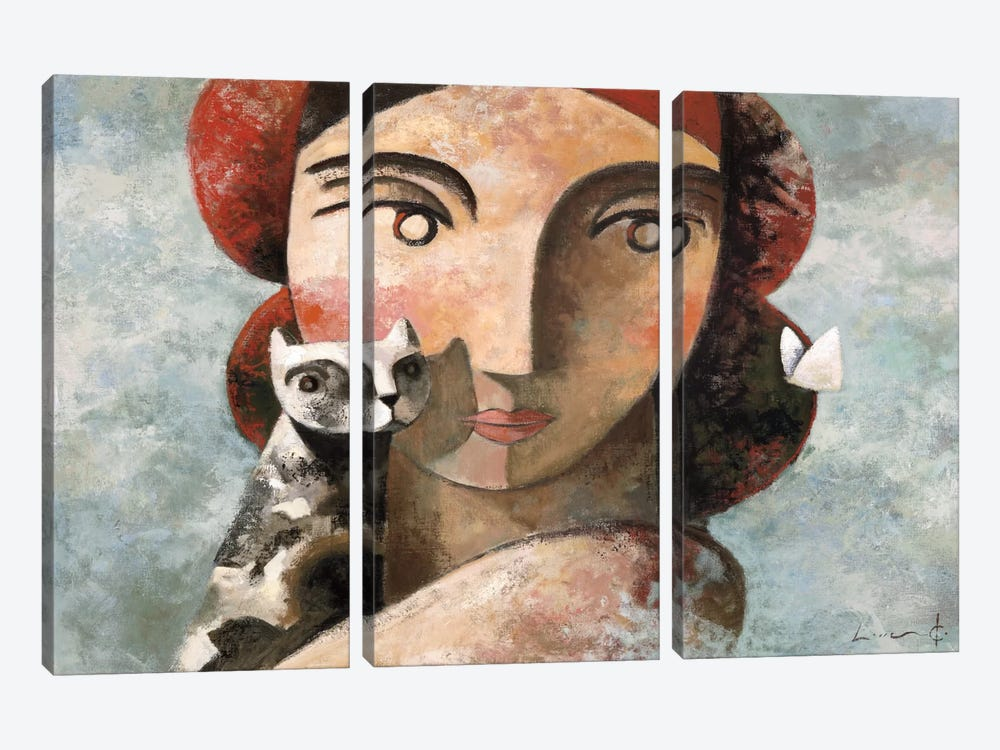 The Visit by Didier Lourenco 3-piece Canvas Art Print