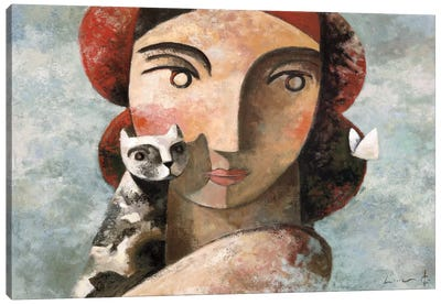 The Visit Canvas Art Print