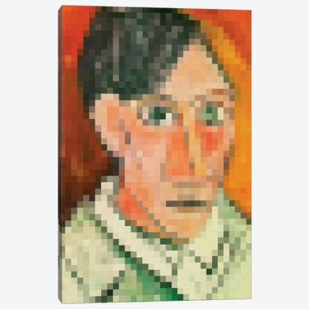 Pixel Picasso Canvas Print #DLX127} by Danilo de Alexandria Canvas Artwork