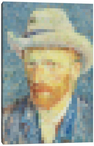 Pixel Van Gogh Canvas Art Print