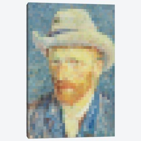 Pixel Van Gogh Canvas Print #DLX128} by Danilo de Alexandria Art Print
