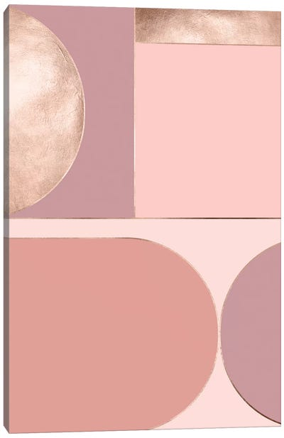 Rose Diptych A Canvas Art Print