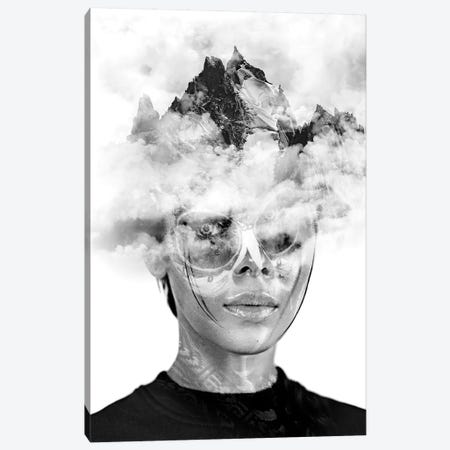 Woman and her Mountain Canvas Print #DLX153} by Danilo de Alexandria Canvas Artwork