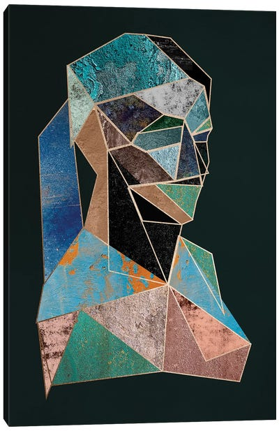 Woman Cubism Diptych I Canvas Art Print