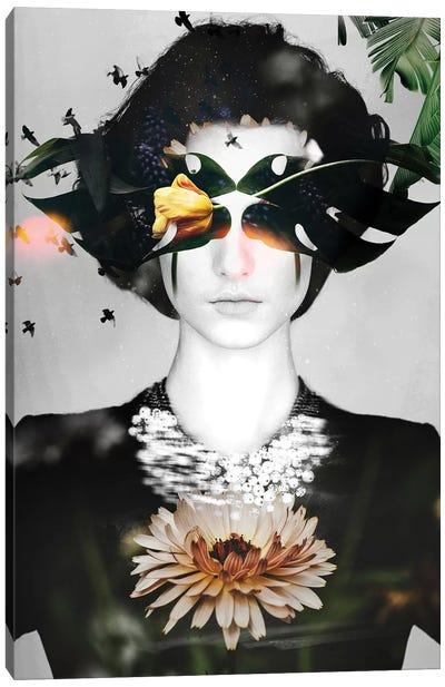 Woman Flowers Canvas Art Print