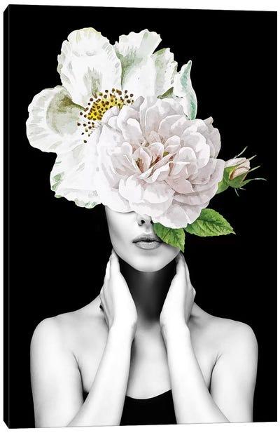 Woman Flowers II Canvas Art Print