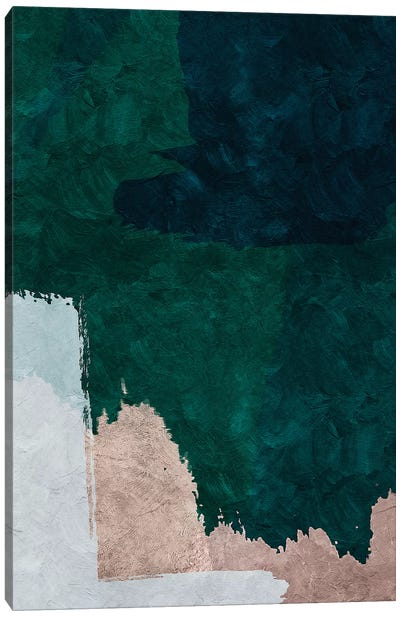 Brush Diptych B Canvas Art Print