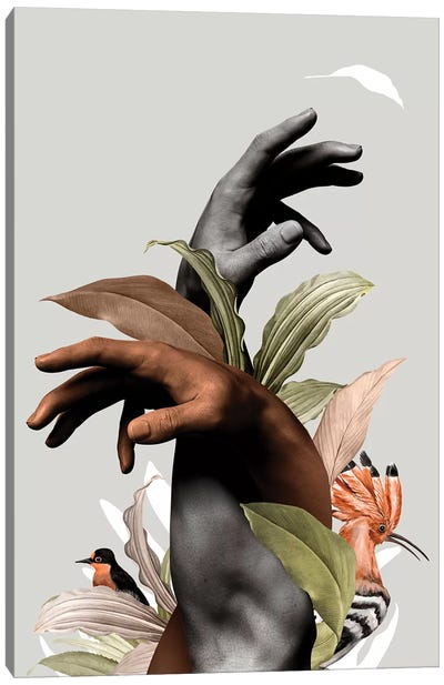 Hand With Flower Canvas Art Print