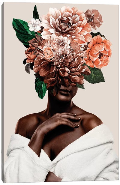 Woman With Flower II Canvas Art Print