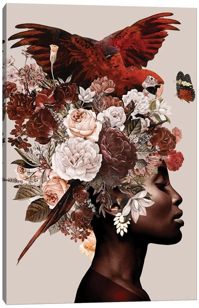 Woman With Flower I Canvas Art Print