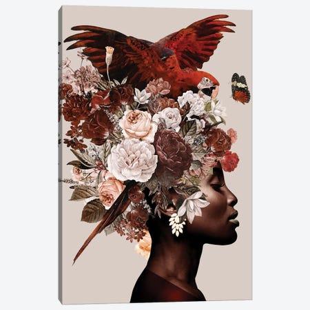 Woman With Flower I Canvas Print #DLX176} by Danilo de Alexandria Canvas Art Print